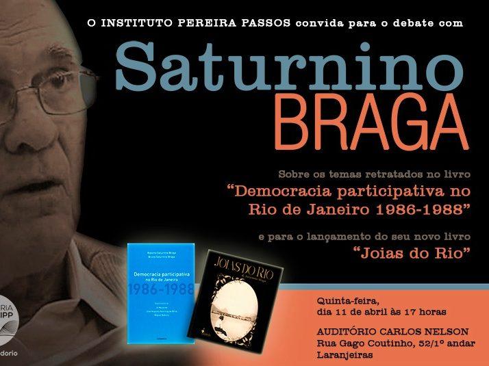 Capa do livro do ex-prefeito Saturnino Braga