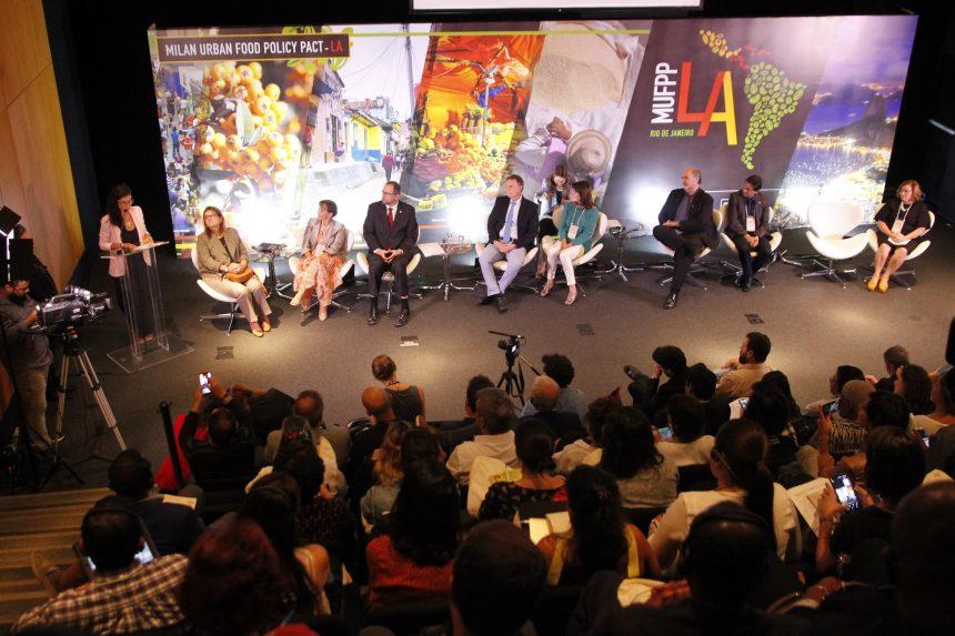 Abertura do fórum das cidades signatárias do Pacto de Milão no Rio. Foto: Marcelo Piu / Prefeitura do Rio