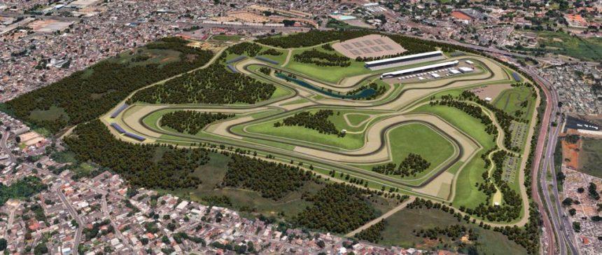 Projeto do novo autódromo, em Deodoro