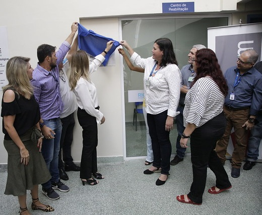 Inauguração do Centro de Reabilitação da Policlínica Lincoln de Freitas Filho, em Santa Cruz.
