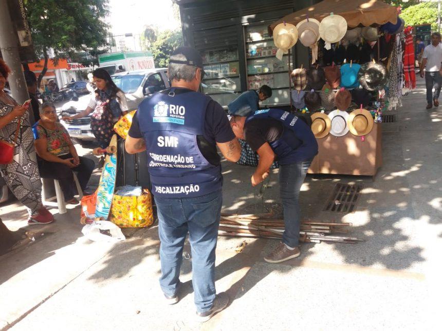 Seop faz com outros órgãos ordenamento urbano no Largo do Machado. Foto: divulgação