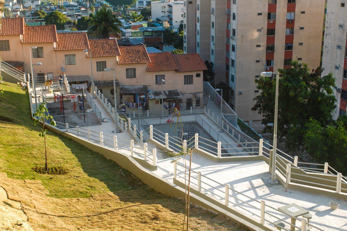 Comunidade Faz Quem Quer, em Turiaçu, passou por obra de urbanização e saneamento básico. Foto: Paulo Sérgio / Prefeitura do Rio