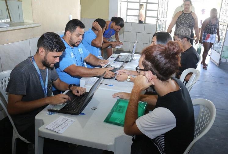 Cadastramento para vagas de emprego na Zona Oeste. Foto: divulgação / Prefeitura do Rio