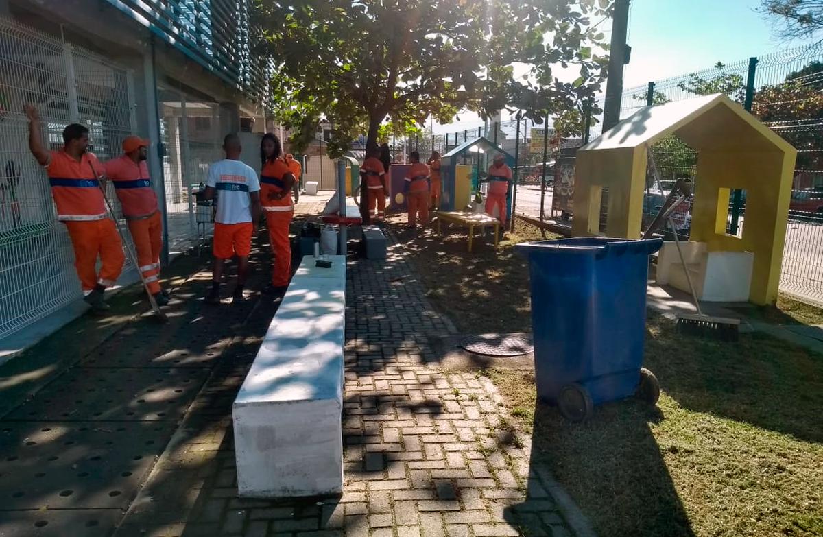 Rio Novo Olhar revitaliza área de recreação em Espaço de Desenvolvimento Infantil, em Cosmos