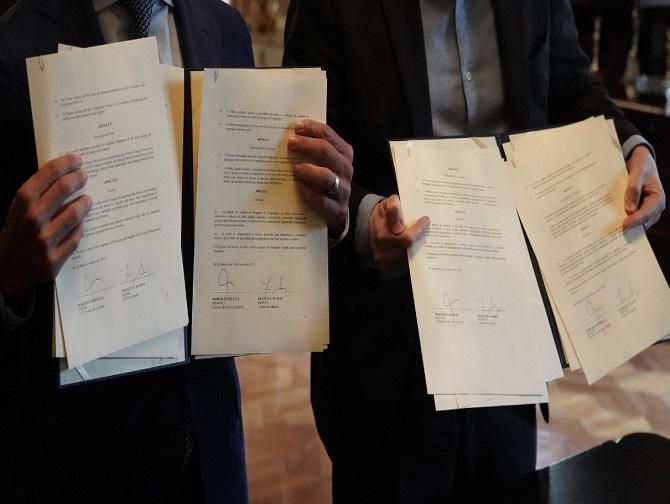 Protocolos de cooperação entre Rio de Janeiro e Miami assinados pelos prefeitos Marcelo Crivella e Francis Suarez