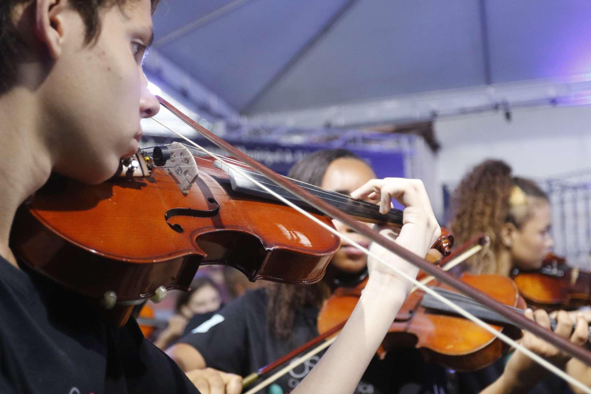 Orquestra Sinfônica Juvenil Carioca. Foto: Marcelo Piu / Prefeitura do Rio