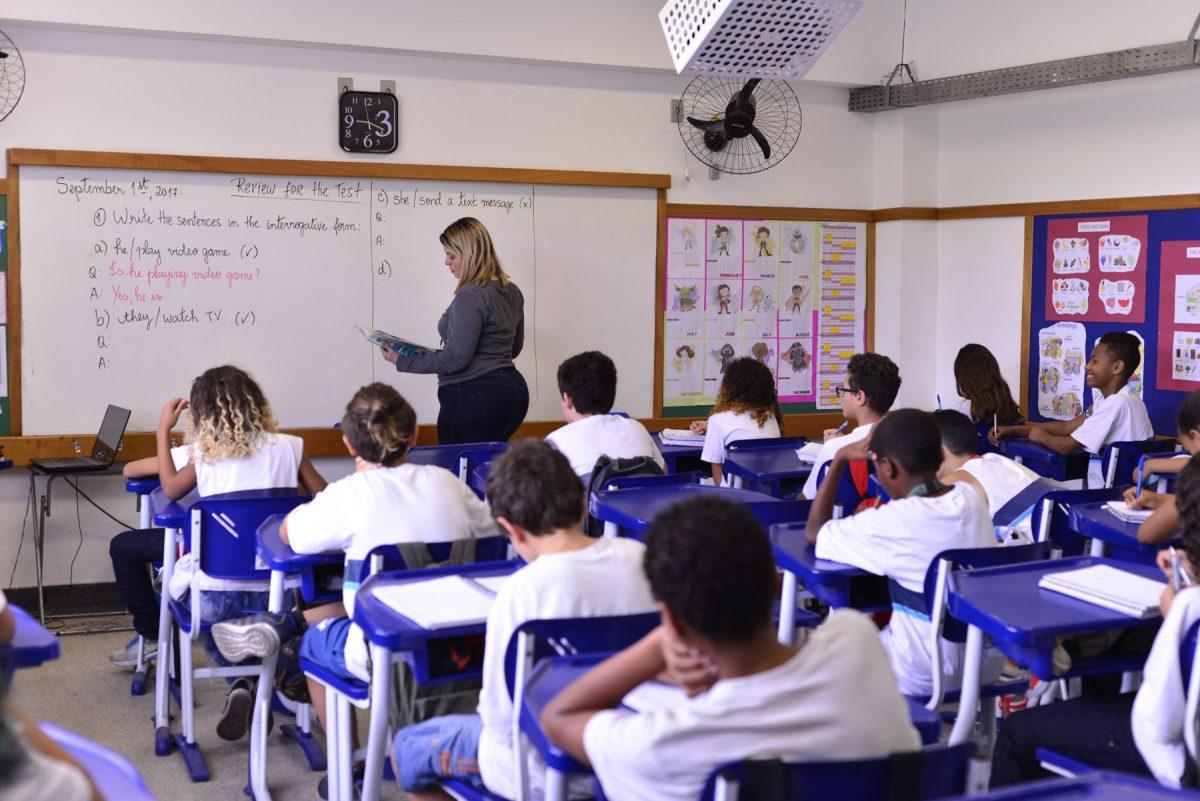 Alunos da Rede Municipal do Rio de Janeiro em sala de aula