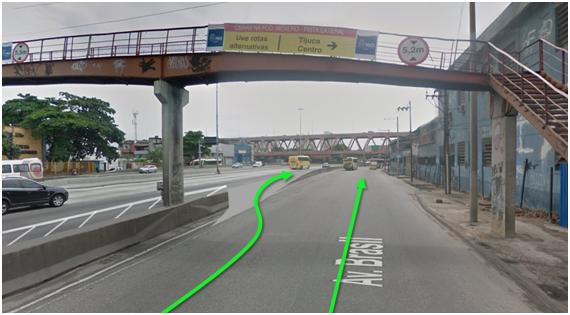 Avenida Brasil no trecho do Caju onde haverá a mudança no trânsito. Foto: divulgação