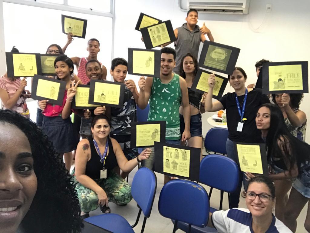 Grupo de adolescentes da CF Maria José de Sousa Barbosa