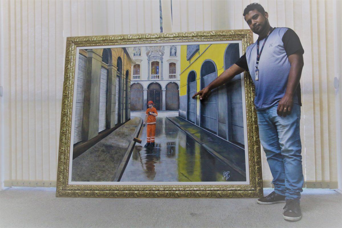 Fabrício Araújo e sua tela