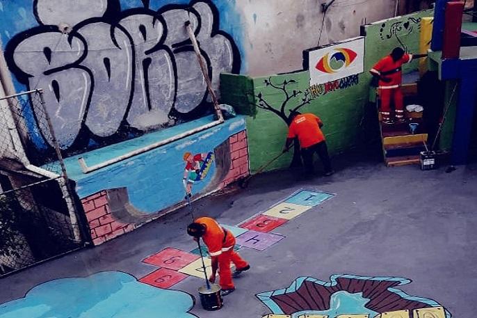 Programa Rio Novo Olhar no Borel, Tijuca. Foto: divulgação / Comlurb
