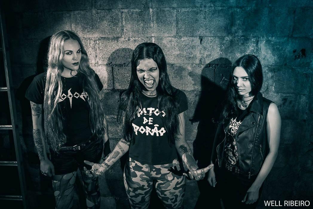 A Arena Carioca Hermeto Pascoal, em Bangu, recebe neste sábado, 19, a banda Nervosa, sucesso no Palco Sunset do Rock in Rio na noite dedicada ao heavy metal no festival. Foto: divulgação