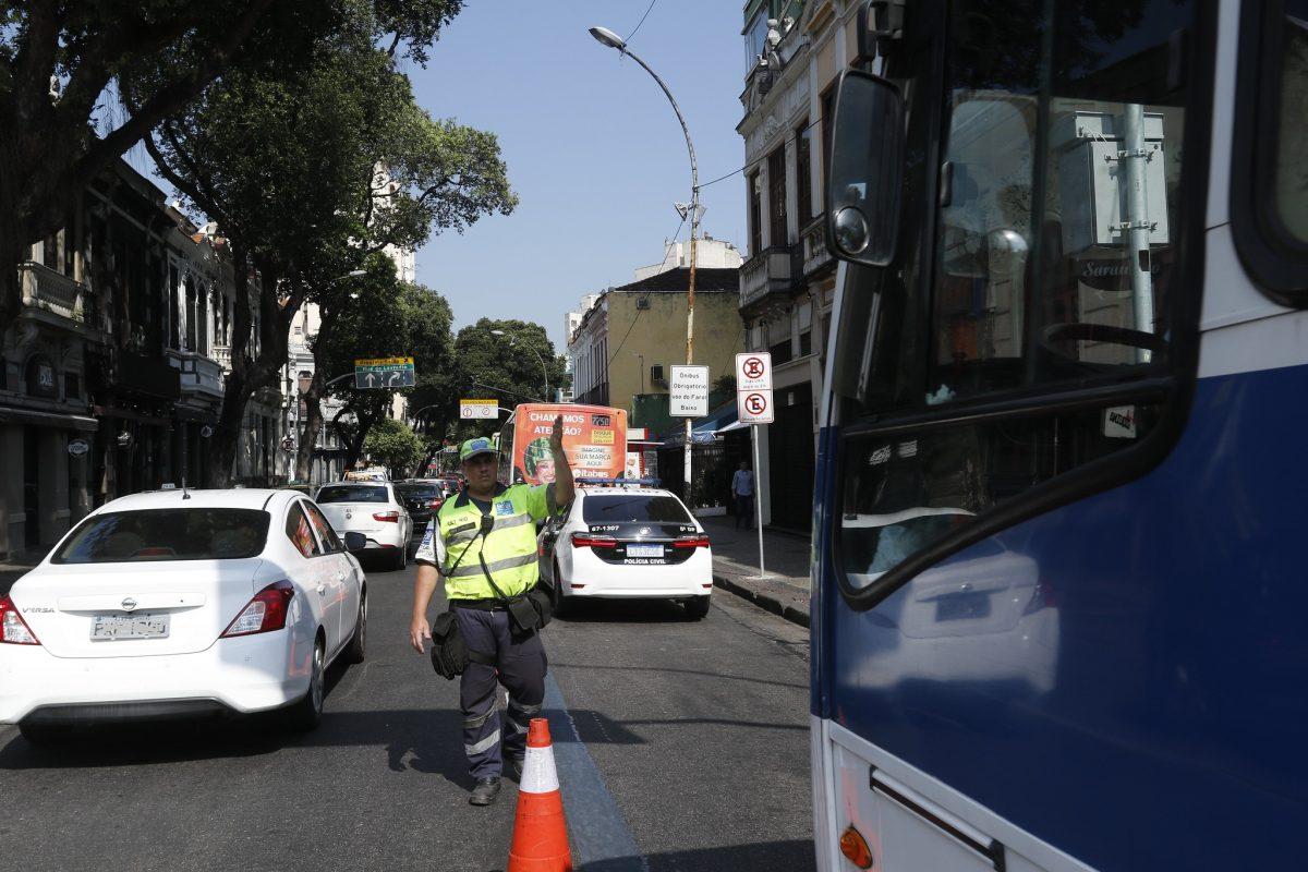 BRS na Avenida Mem de Sá deve reduzir o tempo de viagem para passageiros de ônibus. Foto: Marcelo Piu / Prefeitura do Rio