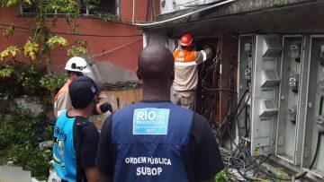 Três pontos clandestinos de energia elétrica foram desativados. Foto: Divulgação/Seop