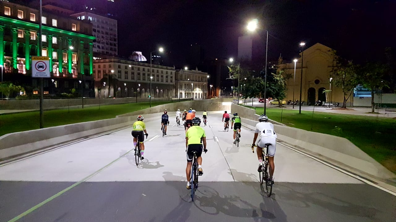 Ciclistas fazem o estudo do circuito da futura APCC do Porto. Foto: divulgação