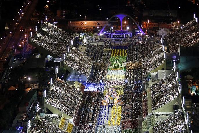 Carnaval 2108: desfile da escola de samba Portela no Sambódromo. Foto Cezar Loureiro / Riotur