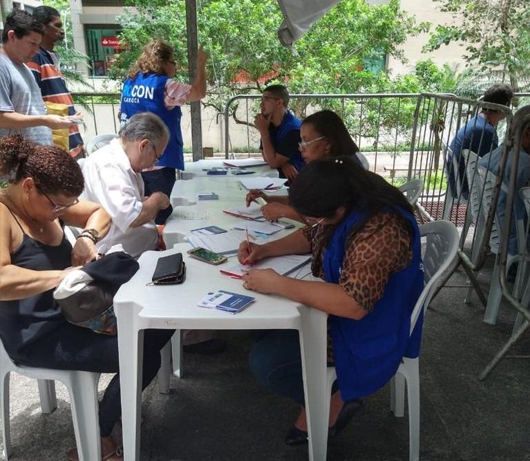 Equipe do Procon Carioca atendeu público na sede da prefeitura nos três dias de mutirão. Foto: Divulgação / Procon Carioca