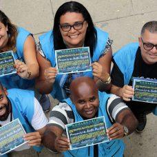 Equipe de técnicos da Secretaria de Assistência Social e Desenvolvimento Humano foi homenageada pelo bom resultado do projeto. Foto: Marcos de Paula / Prefeitura do Rio