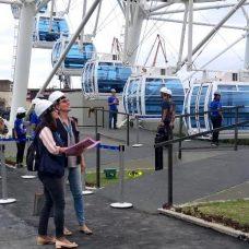 Vigilância faz inspeção prévia na roda gigante da região portuária