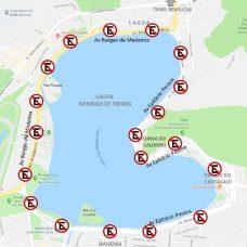 Será proibido estacionar em todo o entorno da Lagoa Rodrigo de Freitas