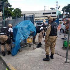 Guardas municipais em operação no entorno da Rodoviária Novo Rio. Foto: Divulgação / Guarda Municipal
