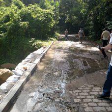 Vazamento de esgoto em rua do Horto - Foto: Divulgação / Prefeitura