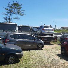 Estacionamento clandestino que funcionava em área ambiental da Praia da Reserva foi fechado pela Seop. Foto: divulgação