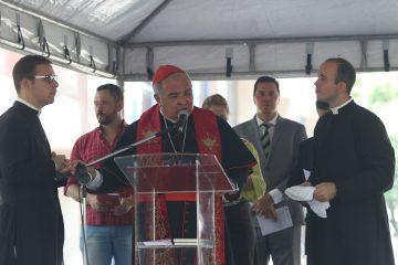 O cardeal arcebispo Dom Orani Tempesta exaltou o exemplo de São Sebastião para todos os cristãos. Foto: Hudson Pontes / Prefeitura do Rio