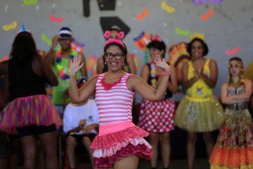 Bianca Martiliano classificou a festa como maravilhosa. Foto: Marcos de Paula / Prefeitura do Rio