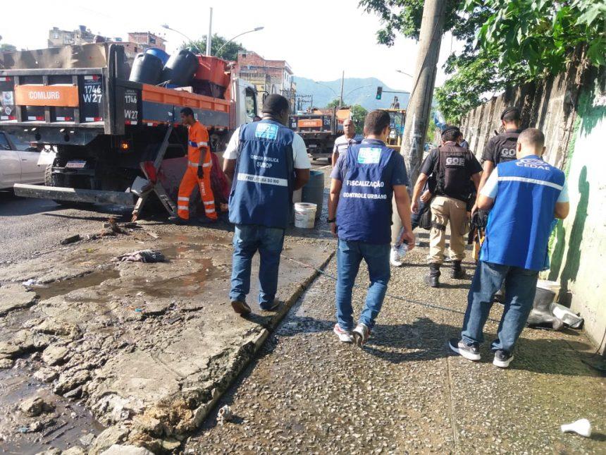 Prefeitura do Rio e PM desmontam 39 lava a jatos clandestinos na Mangueira