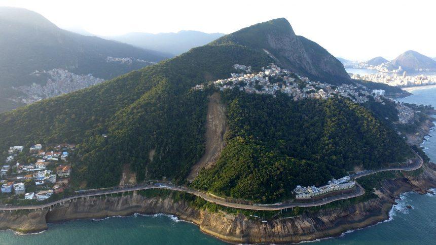 A Avenida Niemeyer em vista aérea. Foto: Richard Santos / Prefeitura do Rio
