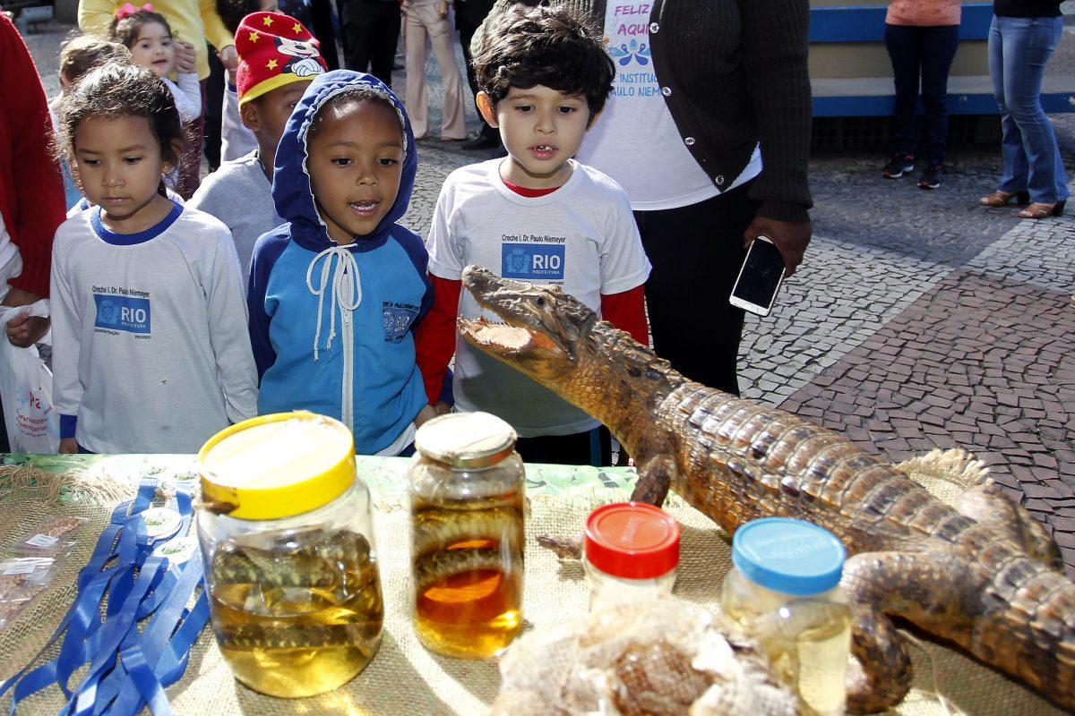 Crianças participam de atividade no Dia de Proteção às Florestas