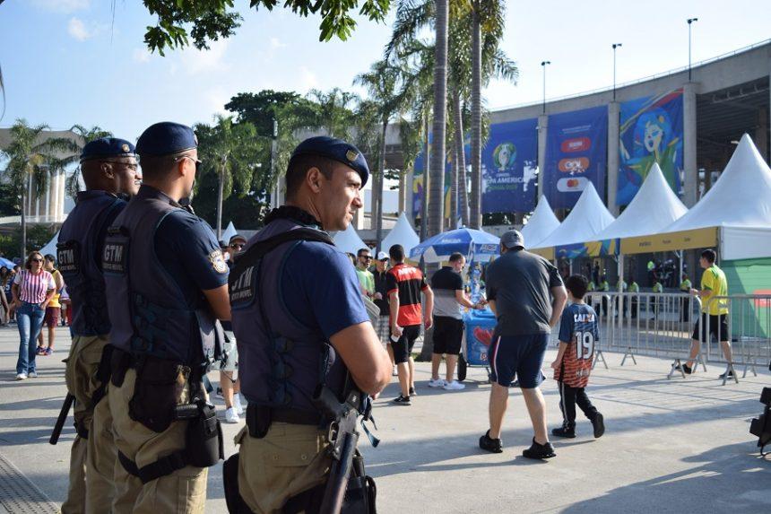 Agentes da Guarda Municipal no Maracanã. Foto: divulgação
