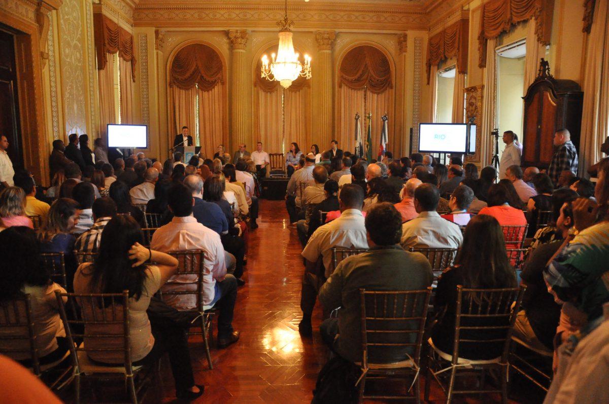 Lançamento do Serviço de Inspeção Municipal (SIM), pela Vigilância Sanitária, foi no Palácio da Cidade. Foto: Nelson Duarte / Prefeitura do Rio