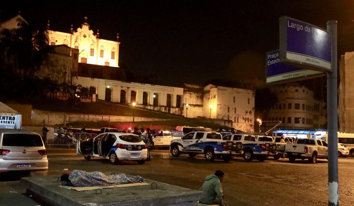 Ação da Prefeitura no Centro ofereceu acolhimento a pessoas em situação de rua. Foto: Marcos de Paula / Prefeitura do Rio