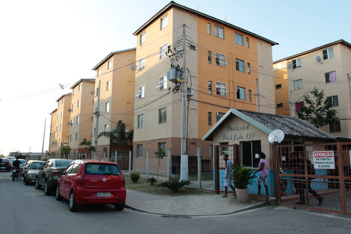 O condomínio Residencial Park Jade, em Santa Cruz, na Zona Oeste