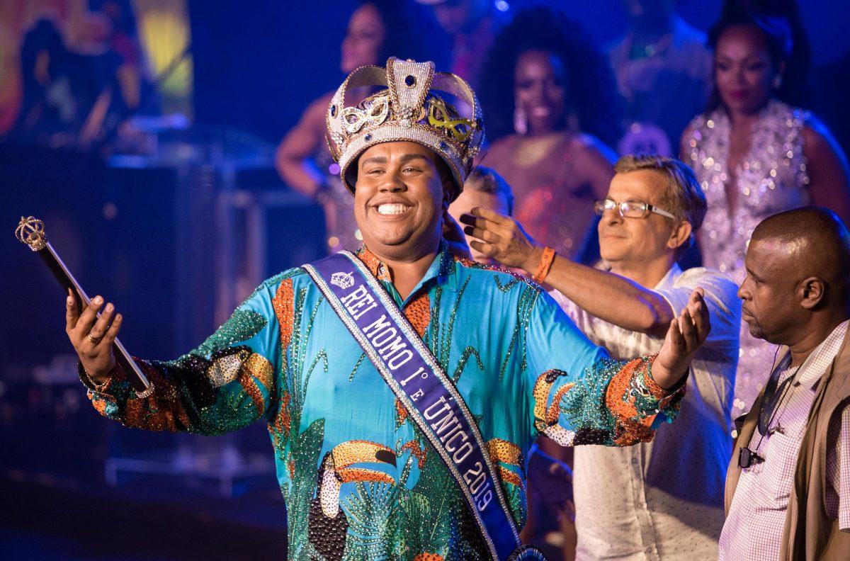 Wilson Neto, Rei Momo do carnaval carioca de 2019. Foto: Fernando Maia / Riotur