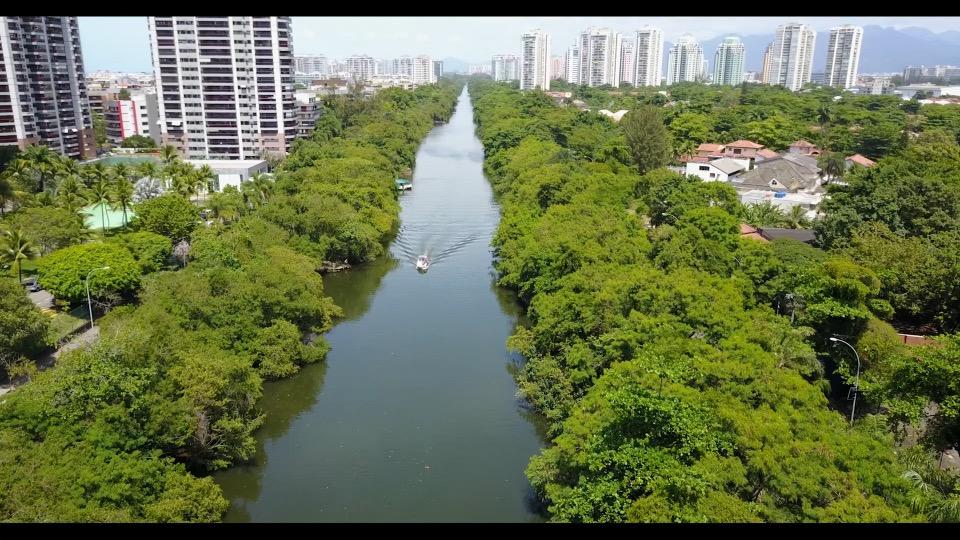 Canal de Marapendi, na Barra da Tijuca. Divulgação: Secretaria Municipal de Meio Ambiente