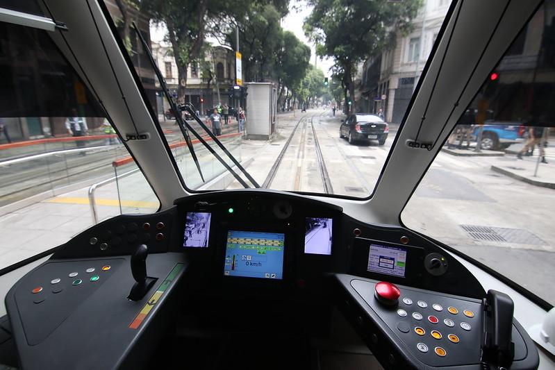 Inauguração da Linha 3 do VLT no Centro da cidade