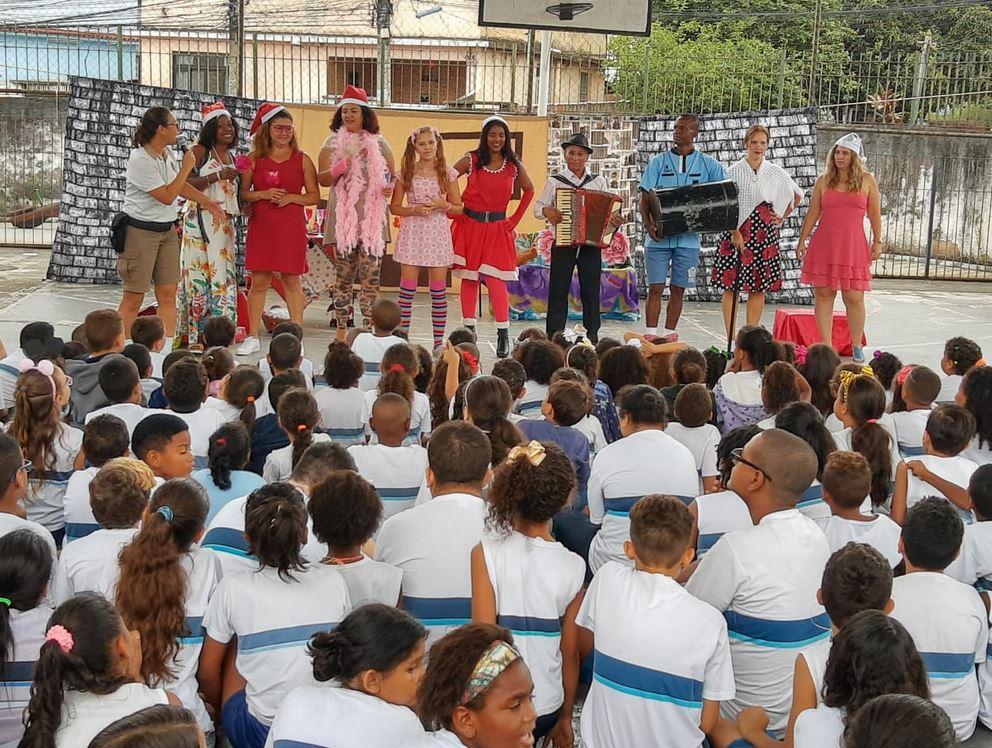 Auto de Natal da Guarda Municipal em escolas: diversas apresentações programadas. Foto: divulgação