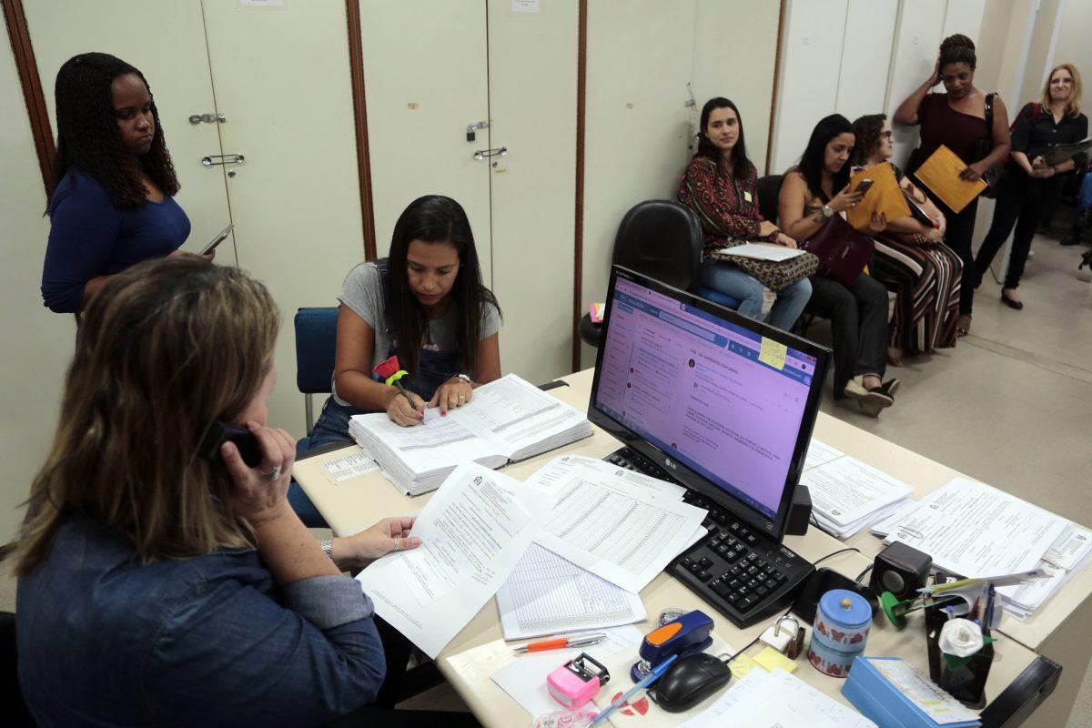 Posse de professores adjuntos de Educação Infantil. Foto: Marcos de Paula / Prefeitura do Rio