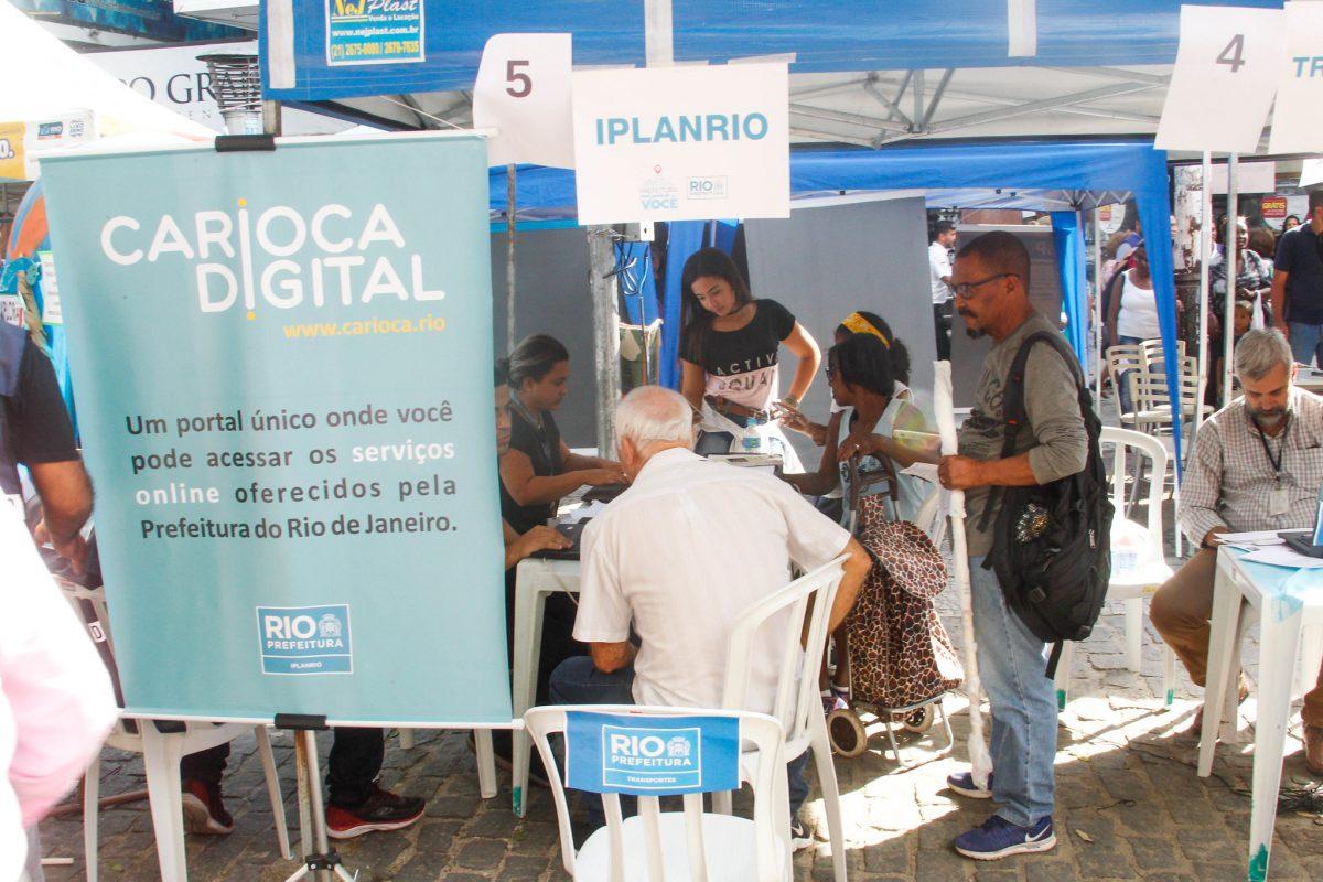 Prefeitura Mais Perto de Você no Calçadão de Campo Grande, em junho de 2019. Foto: Maurício Val / Prefeitura do Rio