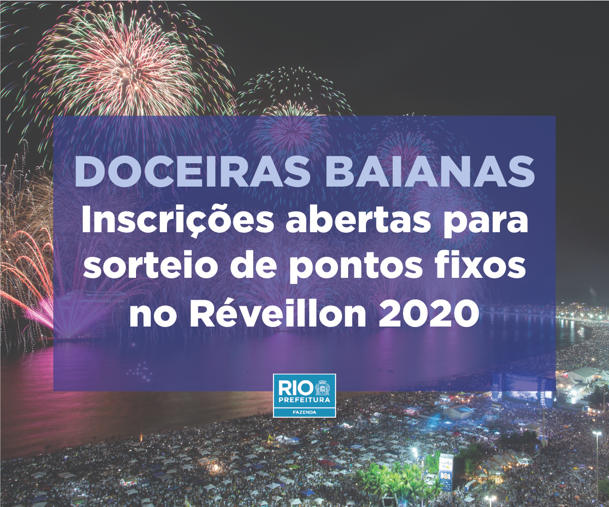 Doceiras baianas - inscrições abertas para sorteio de pontos fixos no Reveillon 2020