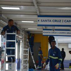 Obra em estação do BRT em Campo Grande. Foto: Marco Antonio Rezende / Prefeitura do Rio