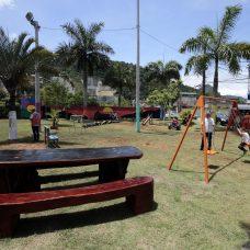 Praça do Condomínio Parque Nobre foi completamente remodelada. Foto: Marcos de Paula / Prefeitura do Rio