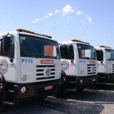 Caminhões da Comlurb. Foto: divulgação / Prefeitura do Rio