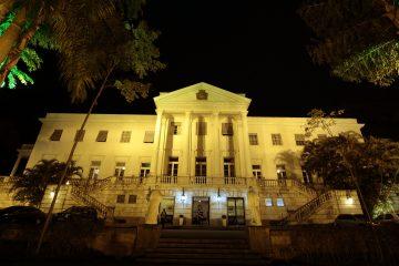 Palácio da Cidade com iluminação especial de fim de ano. Foto: Marcos de Paula / Prefeitura do Rio