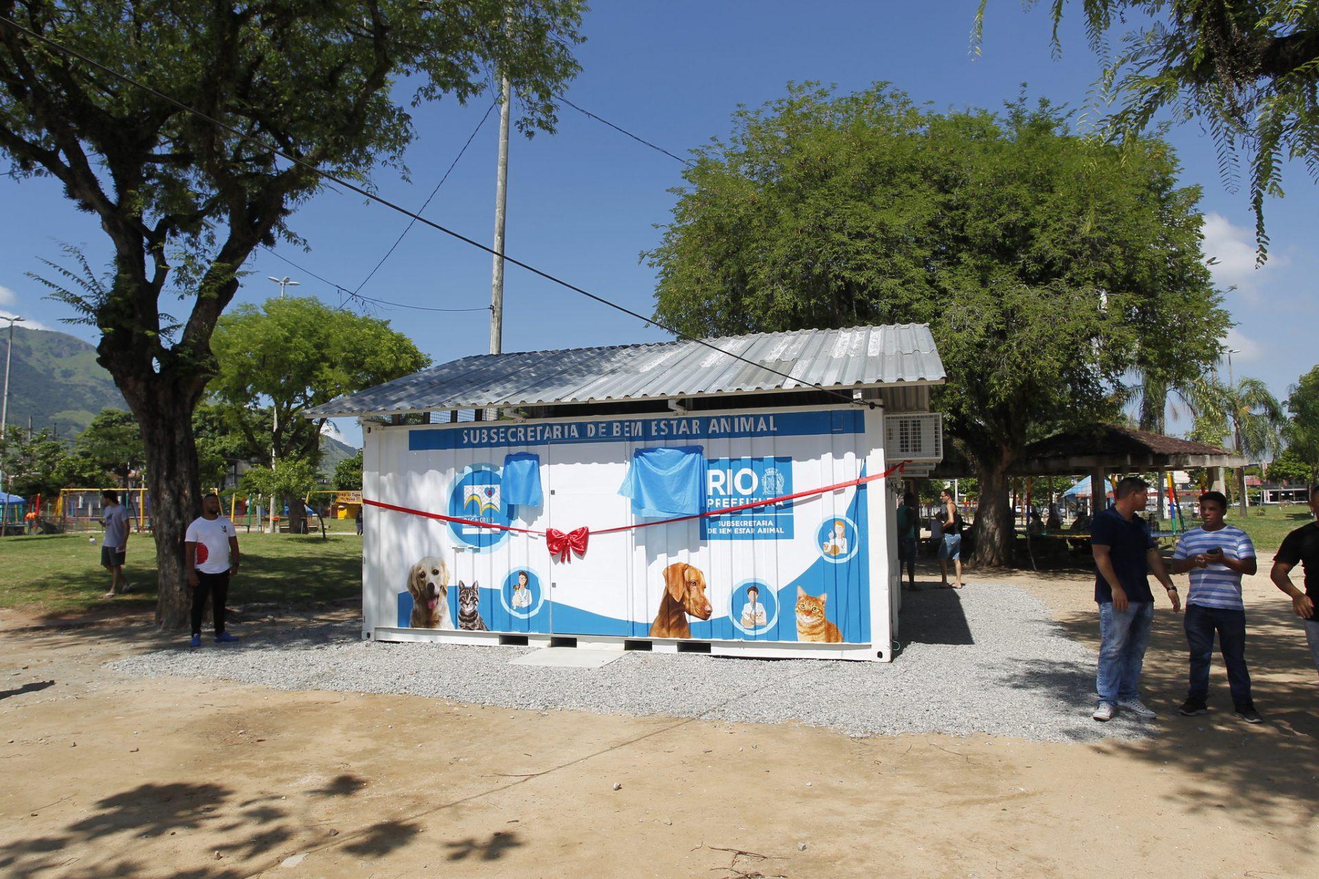 A nova Unidade de Saúde Médica Veterinária, para atendimento gratuito de cães e gatos, em Bangu