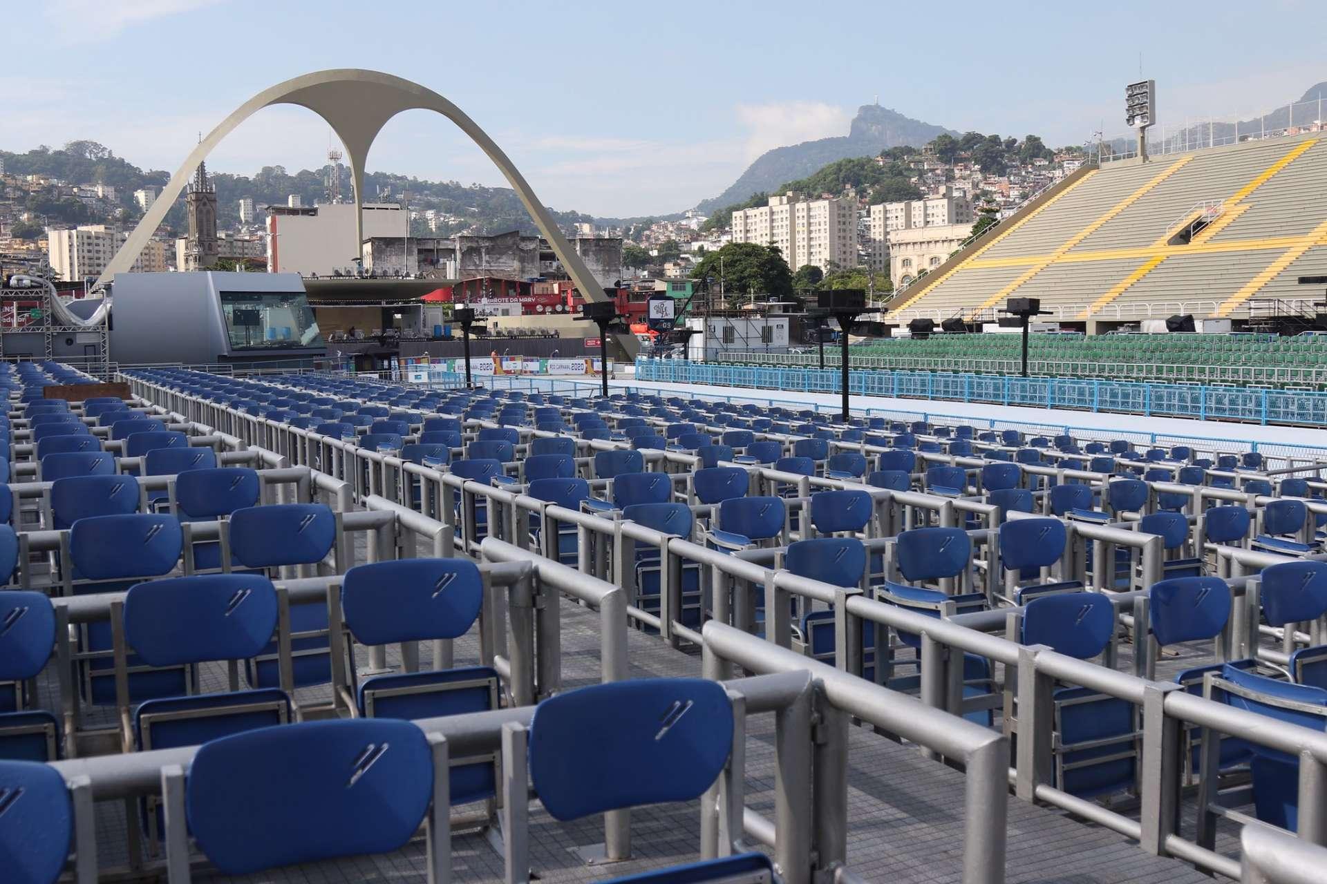 Sambódromo está pronto para receber o desfile das escolas de samba Foto: Hudson Pontes / Prefeitura do Rio