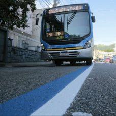Rua Teodoro da Silva teve redução de duas para uma faixa de BRS. Foto: Marcos de Paula / Prefeitura do Rio